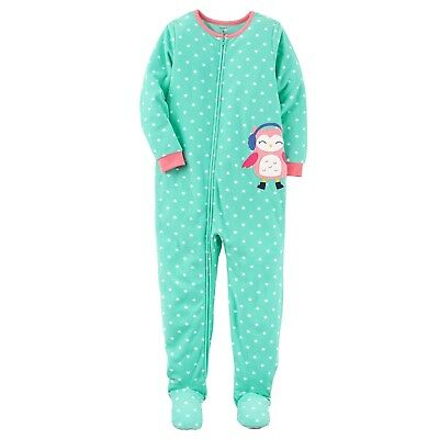 New NWT size 8 girls Carters Microfleece footed pajamas blanket sleeper winter