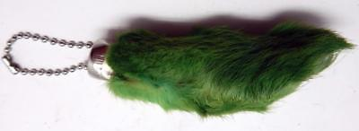 Green Colored Lucky RABBITS FOOT (Oryctolagus Cuniculus) Key Chain New