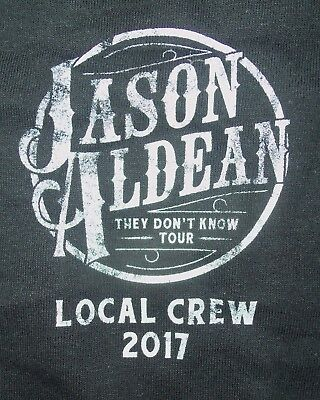 Jason Aldean Local Crew Black T-Shirt - 2017 They Don't Know Tour - XL - New