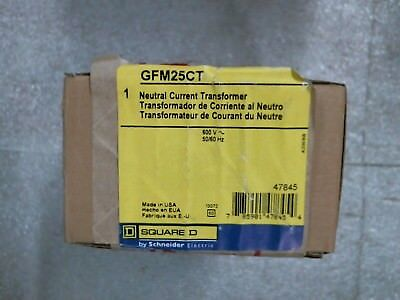 NIB Square D GFM25CT Neutral Current Transformer 600V 50/60Hz - 60 day warranty