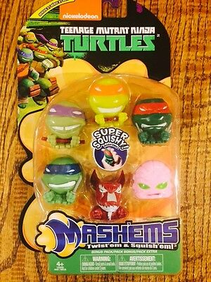 *NEW* LIMITED EDITION Complete  6 piece TMNT  mashems-fashems gift set