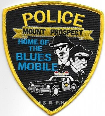 "*NEW*  Mount Prospect, IL  ""Blues"" (4"" x 4.5"" size) shoulder police patch (fire)"