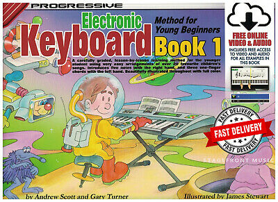 Progressive Keyboard Method For Young Beginners Book 1 Free Online Audio & Video