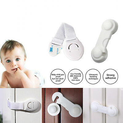 2PCS Child Baby Cupboard Cabinet Safety Locks Pet Door Drawer Fridge 2 Style