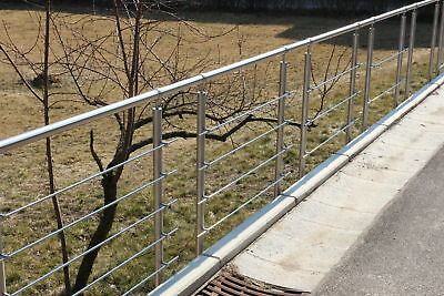 Side Stainless Steel Handrail for Stairs, balcony with & Without querstäbe