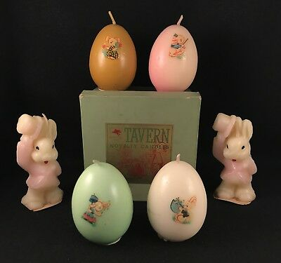 Vintage Gurley Tavern Easter Candles Eggs and Rabbits Mobil Pegasus