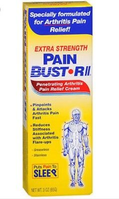(2) Pain Bust Rll Arthritis Pain Relief Cream Extra Strength 2/2017 Pain Buster