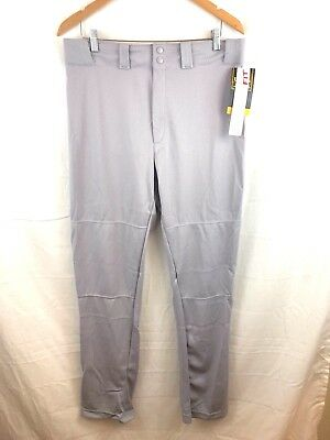 NEW WILSON Relaxed Fit Baseball Pants Softball MENS SIZE LARGE Gray Athletic D6