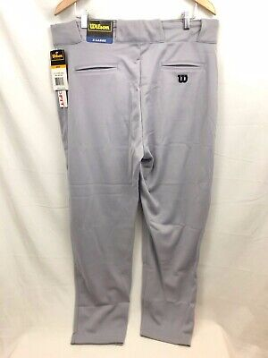 NEW WILSON Relaxed Fit Baseball Pants Softball MENS SIZE XL Gray Athletic D6