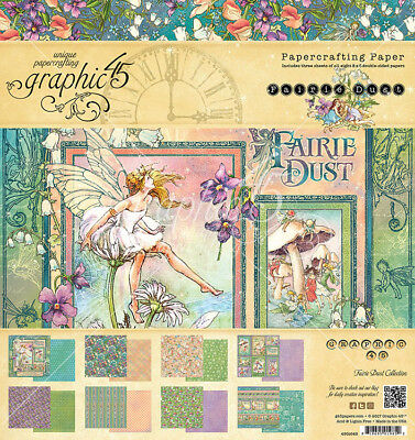 Graphic 45 Fairie Dust Collection 8 x 8 Paper Pad 4501640 2018