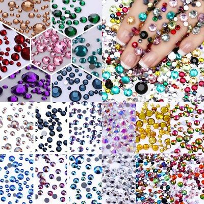 Nail Art Flat Back Rhinestones Resin Crystal Stones 3D Nails Decoration