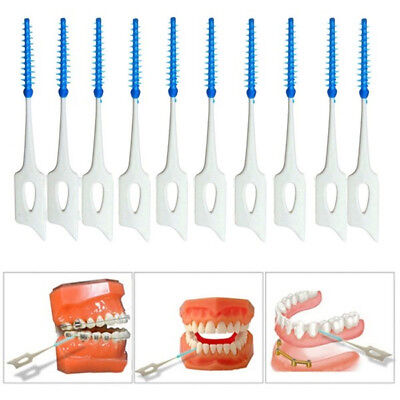 200pcs Brosse Dents Brossette Interdentaires Dentaire Nettoyage Toothpick Oral