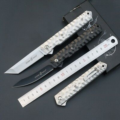 Folding Knife Portable Camping Keychain Tactical Rescue Survival Outdoor Tool