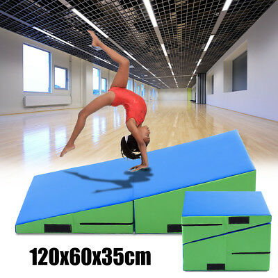 Incline Gymnastics Mat Wedge Ramp Folding Block For Gym Sports Exercise Tumbling