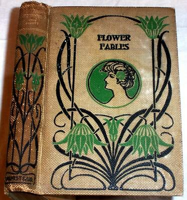 ca.1900 Flower Fables ; Fairy Stories by Louisa May Alcott , Fairies Elf Flowers