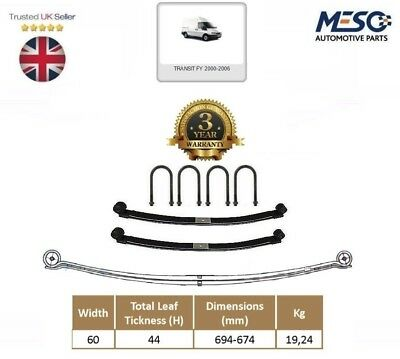 A Pair Of Rear Double ( 2 ) Leaf Spring  For Ford Transit Mk6 2000-2006 60Mm