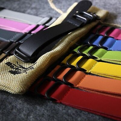 High Quality PU Leather Armbanduhr Uhrenbands ZULU Nato G10 PVD 5Ring Buckles