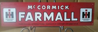 Vintage Farmall Ih Metal Sign