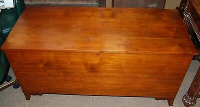 Vintage Handmade Solid Wood Blanket Storage Chest Box Hope From An Estate