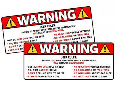 """Infiniti Rules Warning Safety Instruction Funny Adhesive Sticker Decal 2 PACK 5/"""""""