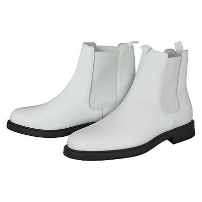 White Real Leather Ankle Boots - for a Stormtrooper Costume - from UK
