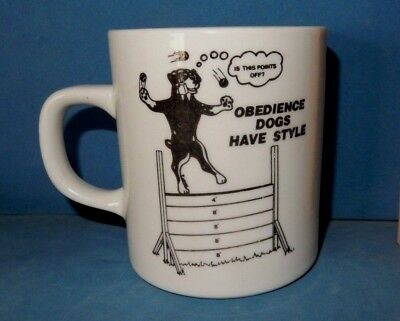 ROTTWEILER OBEDIENCE DOGS HAVE STYLE  MUG   coffee cup ceramic