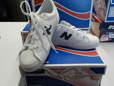 d2bef9bd732b7 New Balance Kids ProCourt Size 5 M White Navy Canvas Casual Shoes NEW #7646