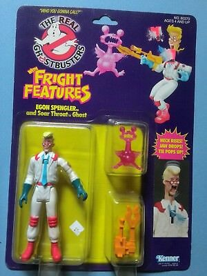 Real Ghostbuster Fright Features Egon action figure Kenner NIB excellent