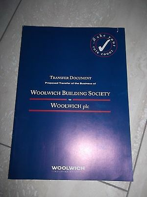 Woolwich  Building Society Transfer Document.