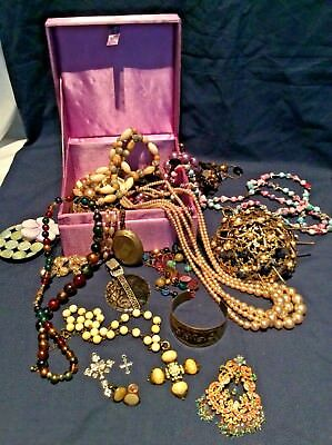 Job Lot Costume Jewellery In Box Jewellery & Watches Mixed Lots