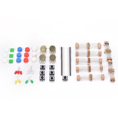 Generic Parts Parts Pack No. 1 Component Kit with Resistor LED Potentiometer Cx