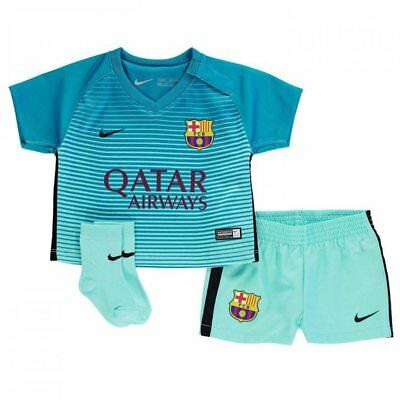 Barcelona 3Rd Kit Baby Kit All Sizes Shirt Shorts & Socks Nike  100% Official