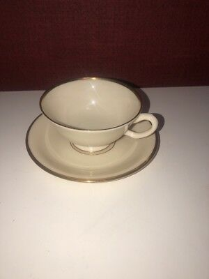New Lenox Mansfield Presidential Collection Tea Cup and Saucer Made in USA