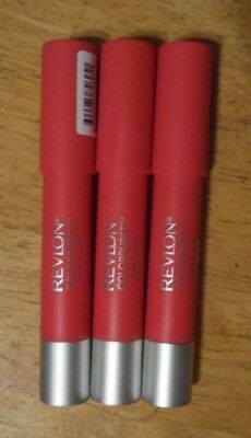 3 tube lot REVLON COLORBURST MATTE LIP BALM 210 UNAPOLOGETIC unsealed flaw