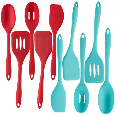 5pc Silicone Kitchen Utensils Set For Serving & Cooking With Nonstick Cookware
