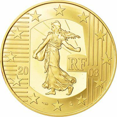 [#482060] France, Monnaie de Paris, 20 Euro, Semeuse, 2003, MS(63), Gold