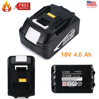 18V 4.0Ah BL1840B Battery Replacement For Makita BL1815 BL1830 BL1840 BL1860 New