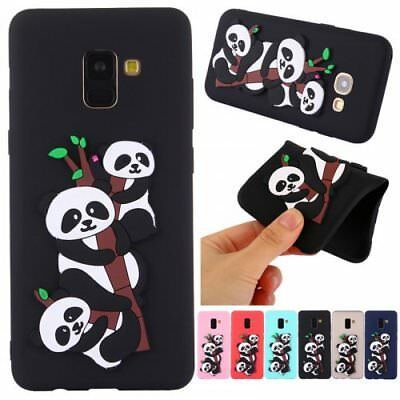 For Samsung 3D panda soft TPU phone case silicone protective skin shockproof