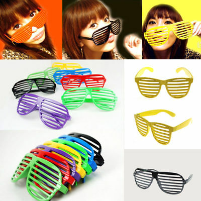 Slotted Frame Shades Adult Glasses Shutter Glasses Party Supplies