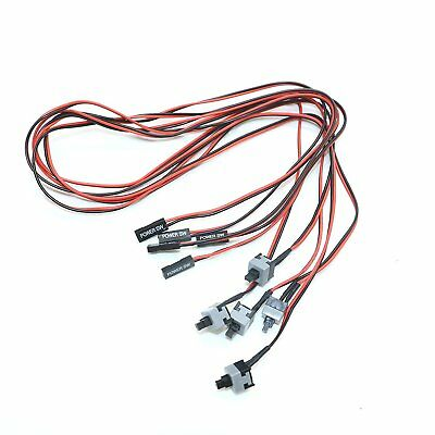 2/10X 2 Pin PC Power Cable On/Off Push Button ATX Computer Switch Wire 50cm CU