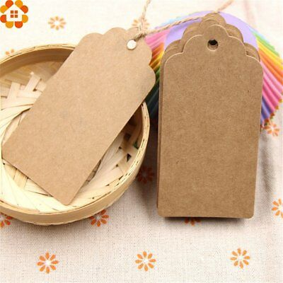 100Pcs Shape Blank Kraft Paper Card Gift Tag Label DIY Party Wedding Craft CU