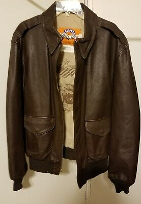 Cooper Type A-2 Flight Bomber Leather Jacket 50th Anniversary Men's 40R USA EUC