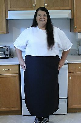 Black Restaurant Kitchen Bistro Apron, Spun Poly, 100% American Made