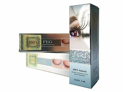 FEG Eyelash Enhancer Eye Lash Rapid Growth Serum Liquid 100% Natural. AUTHENTIC