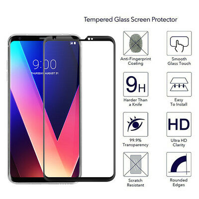 For LG V30 9H 3D Curved Tempered Glass Screen Protector Protective Film Guard AE