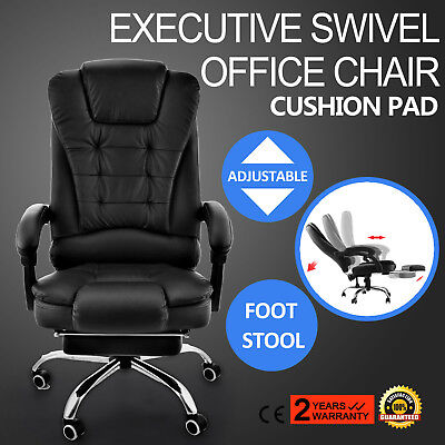 "120-130cm/47-52"" Height Recliner Swivel Chair Foot Stool High Back Metal Frame"