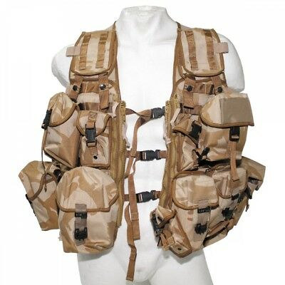 Origi. Brit. Weste Load Carrying MOLLE DPM desert Modular System Paintball neuw.