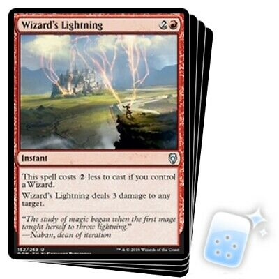 WIZARD'S LIGHTNING X4 Dominaria DOM Magic MTG MINT CARD