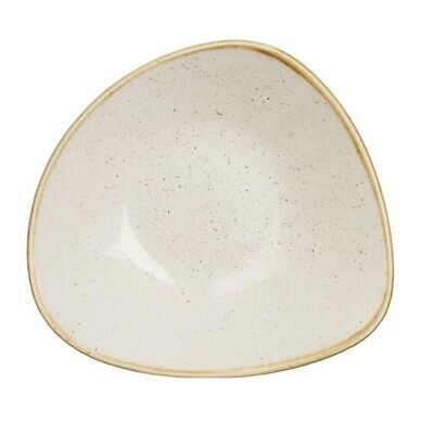 Churchill Stonecast Triangle Bowl Barley White 250mm (Pack of 12) BARGAIN