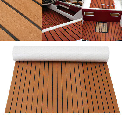 120cmx240cm Self-Adhesive EVA Boat Decking Teak Foam 5mm Marine Sheet Floor Mat
